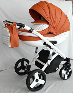 Детская коляска Lumi 2 в 1 Viki Saturn Victoria Gold эко кожа