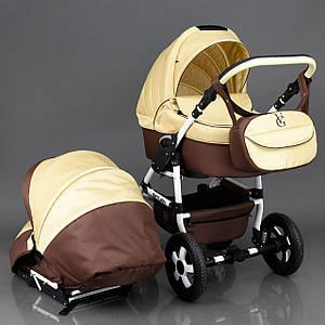 Детская коляска 2 в 1 Viki Saturn Victoria Gold коричневый/беж