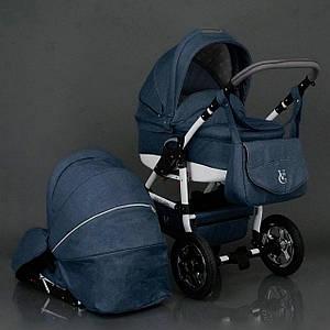 Детская коляска Viki Saturn Len 2 в 1 Victoria Gold синяя