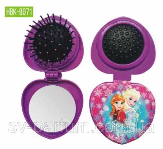 HBK-9071 Детская щетка для волос c зеркалом LUXURY