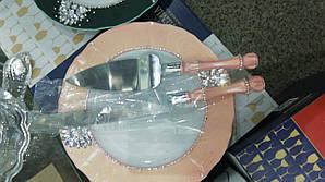 Набор для нарезания молодоженами свадебного торта ручной работы
