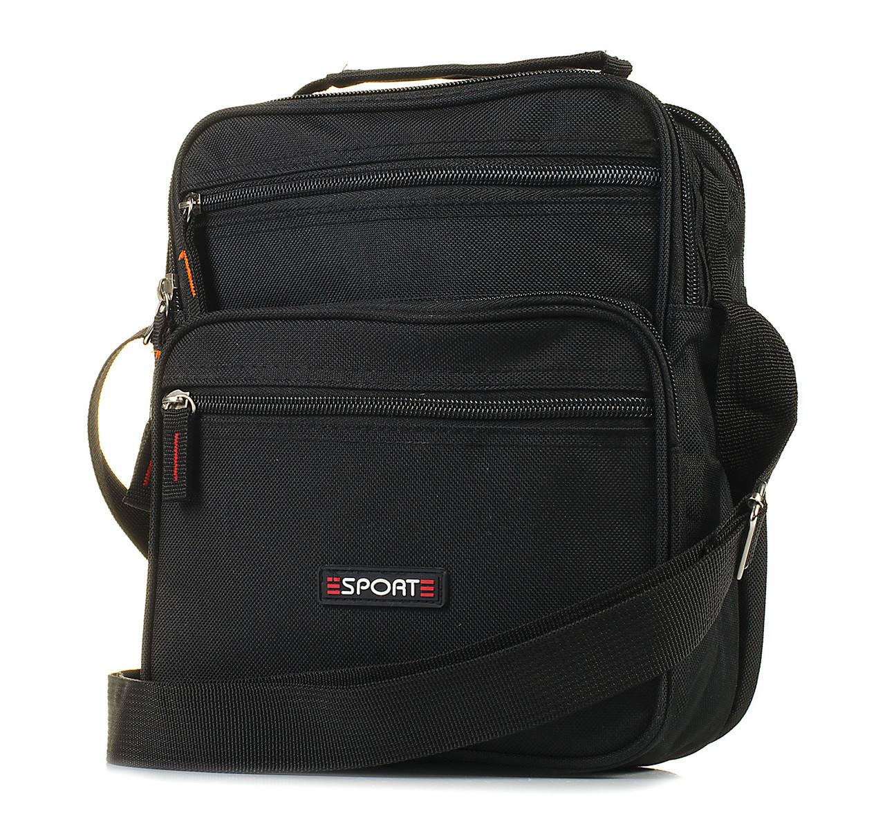 Мужская сумка через плечо черная 1043317728