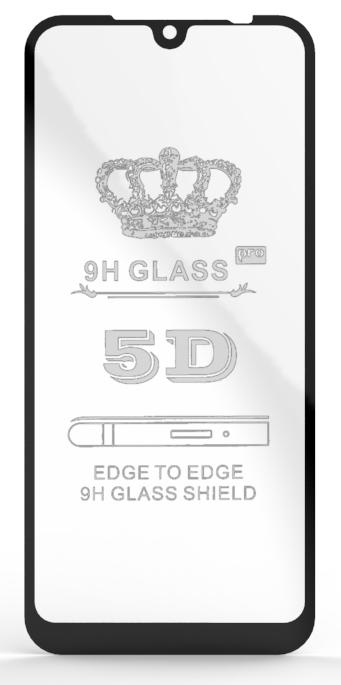 Защитное Стекло для Xiaomi Redmi Note 7 5D 9H Full Glue Полная Проклейка