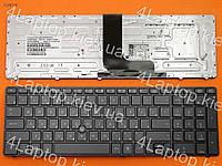Клавиатура HP EliteBook 8560W, RU (серая, с подсветкой, с поинтстиком, Original)