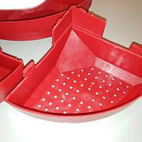 Кормушка пластиковая тарельчатого типа для кроликов без облицовки, пластиковая
