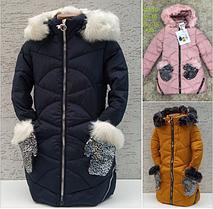 Детские зимние куртки пальто для девочки Рукавичка. Венгрия. 12-16 лет.
