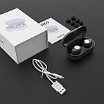 Наушники беспроводные блютуз гарнитура Bluetooth наушники 5.0 Wi-pods TW60. Черные, фото 7