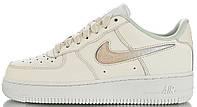 Женские кроссовки Nike Air Force Low Jelly Puff White AH6827-100 Найк Аир Форс низкие кожаные белые
