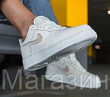 Женские кроссовки Nike Air Force Low Jelly Puff White Найк Аир Форс низкие кожаные белые, фото 2