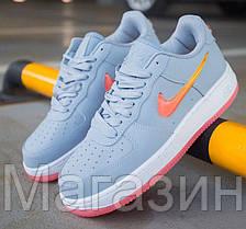 Женские кроссовки Nike Air Force Low Jelly Grey Найк Аир Форс низкие кожаные серые, фото 2