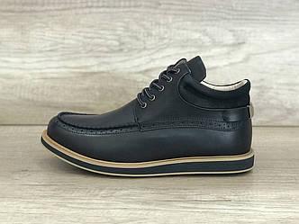 Черные кожаные мужские ботинки Бекхем UGG Men's Bechem New Black Leather