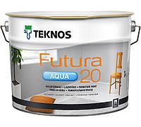 Фарба напівматова водорозчинна Teknos Futura Aqua 20, Б1, 9л.
