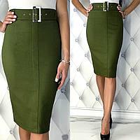 Женская юбка - карандаш из стрейч джинса