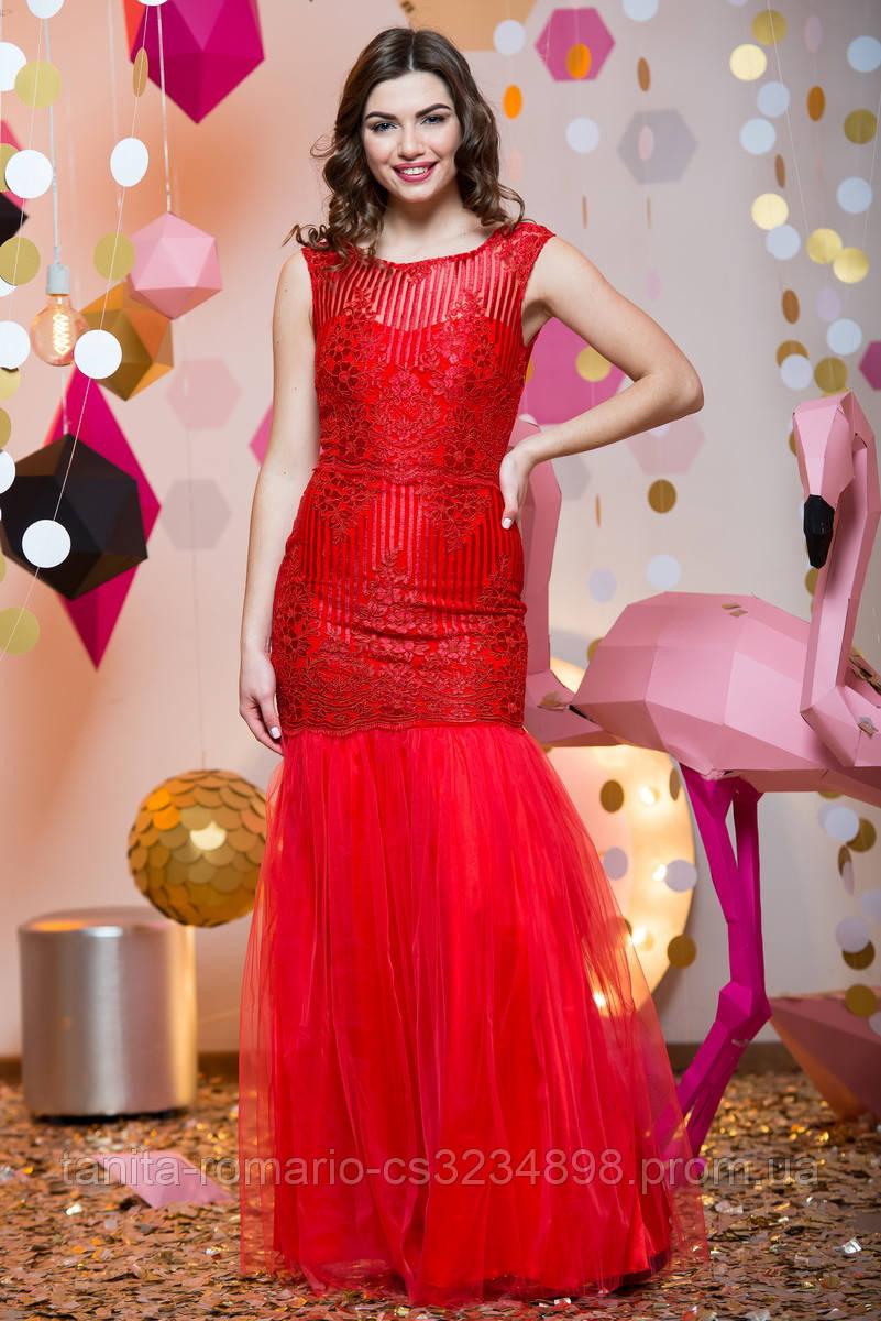 Выпускное платье 7010e Красный S(р)