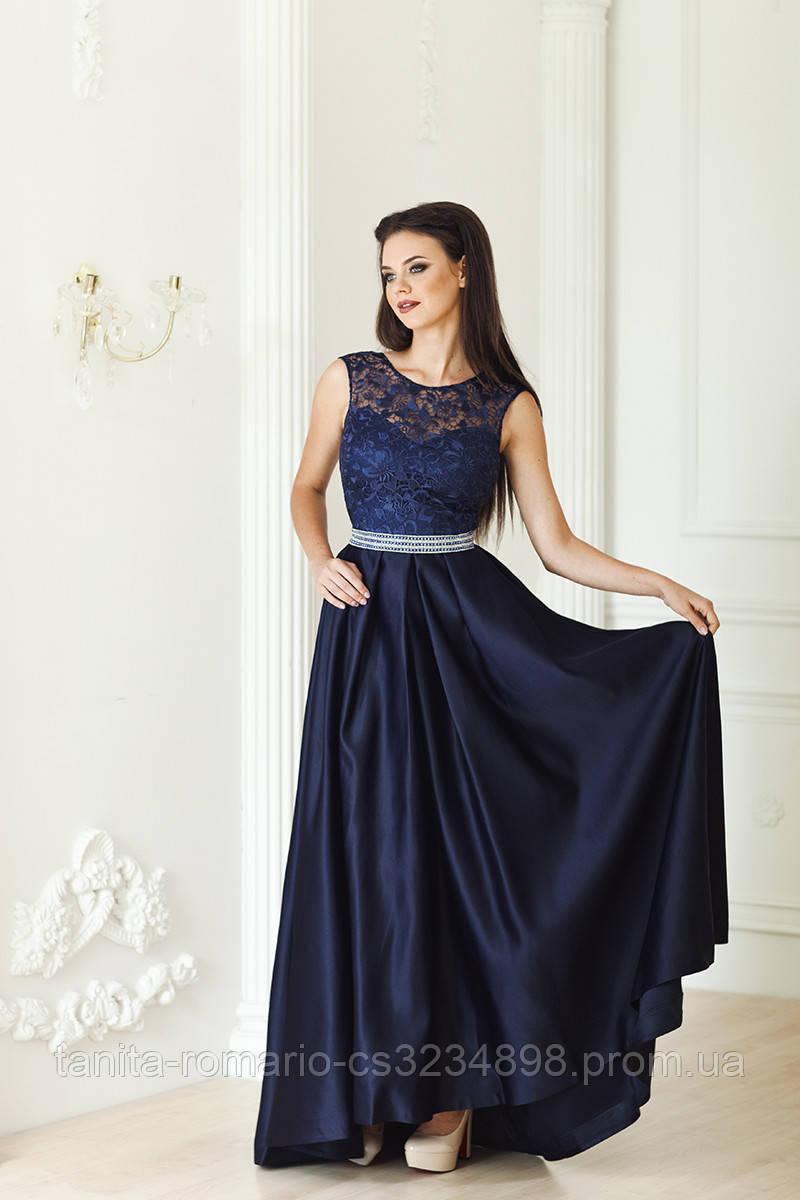 Вечернее платье 7193e Синий S M L