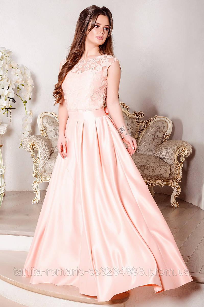 Вечернее платье 8022e Коралловый S M L