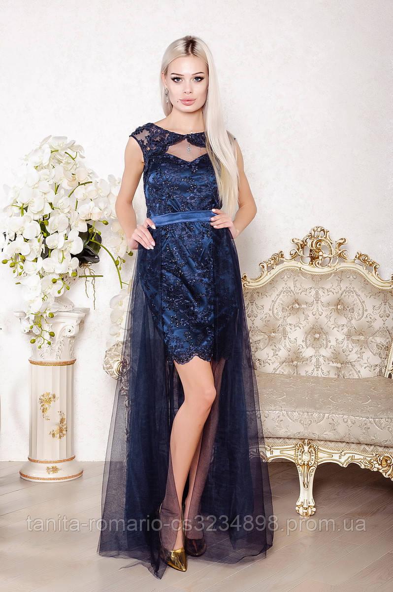 Вечернее платье 8003e Синий S M L