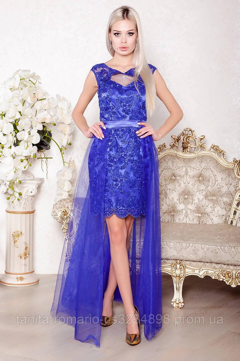 Вечернее платье 8003e Электрик S M L