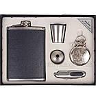 9oz Набор с флягой в коже, карманной пепельницей, складным ножиком, стаканчиком и лейкой. FP907410, фото 3