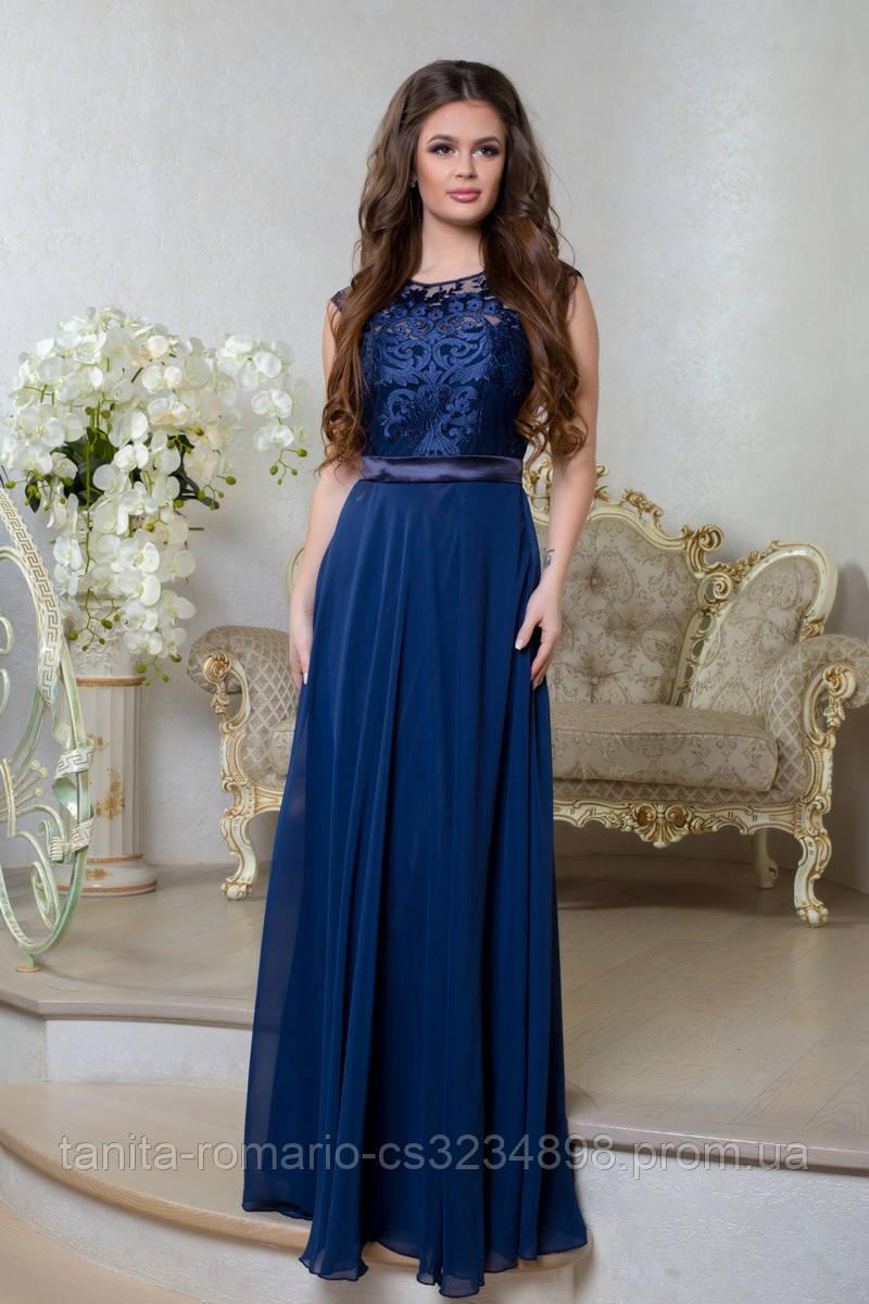 Вечернее платье 8030e Синий S M L