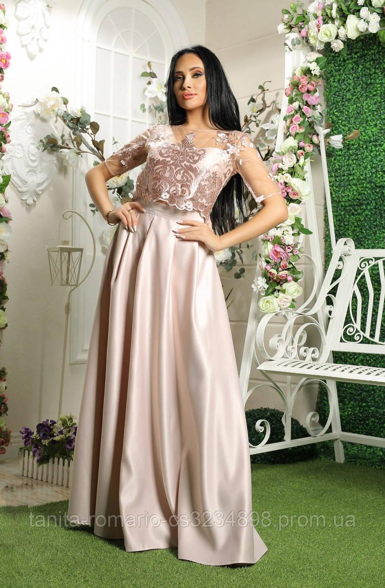 Вечернее платье 8012e Фрезовый