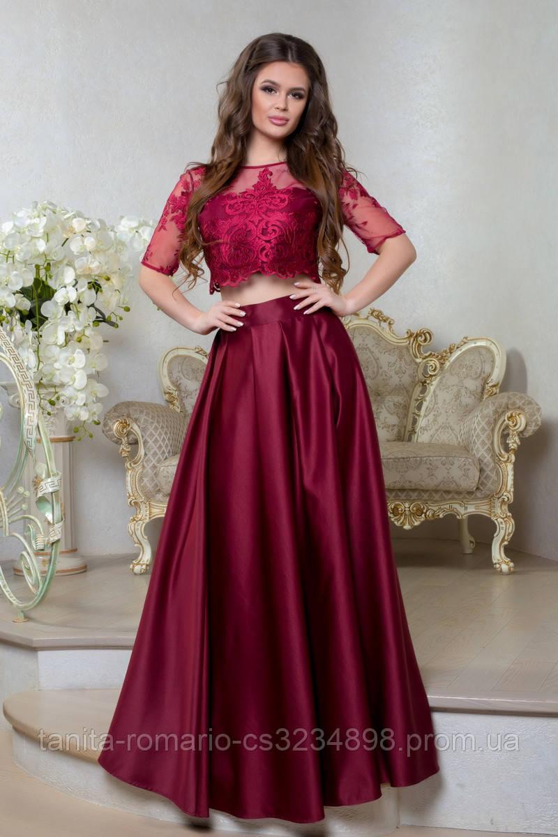 Вечернее платье 8012e Бордо S M L