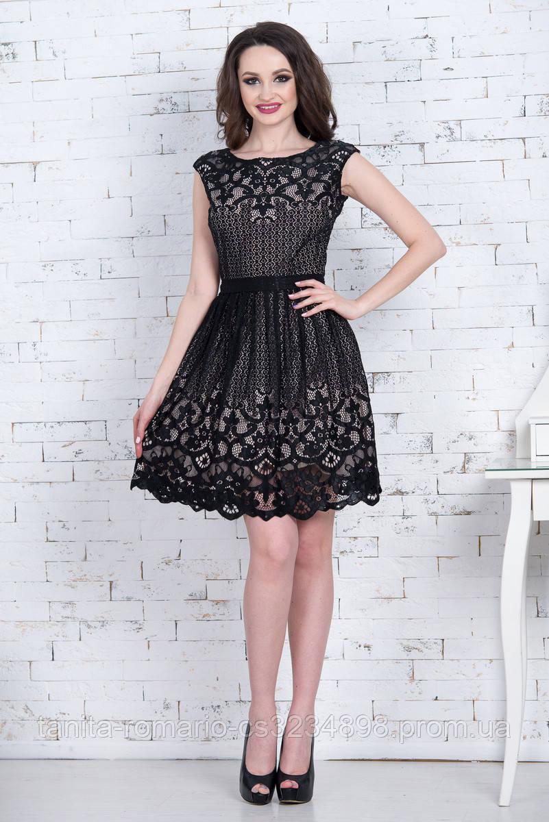 Коктейльное платье 7064e Чёрный S M L