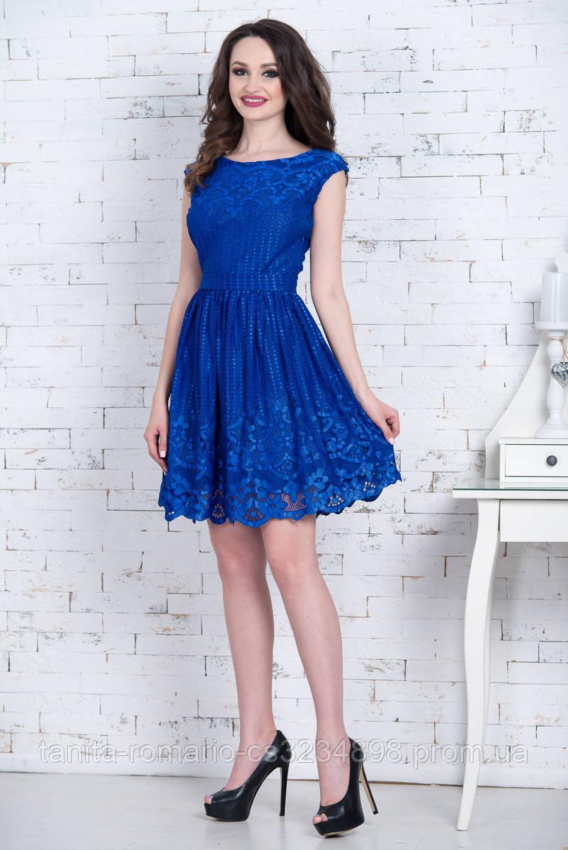 Коктейльное платье 7064e Электрик S M L