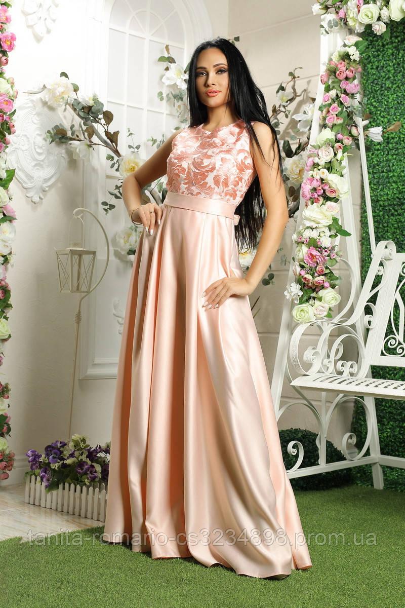 Вечернее платье 8018e Розовый S M L
