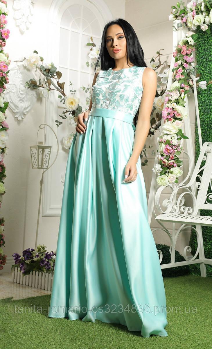 Вечернее платье 8018e Мятный S M L