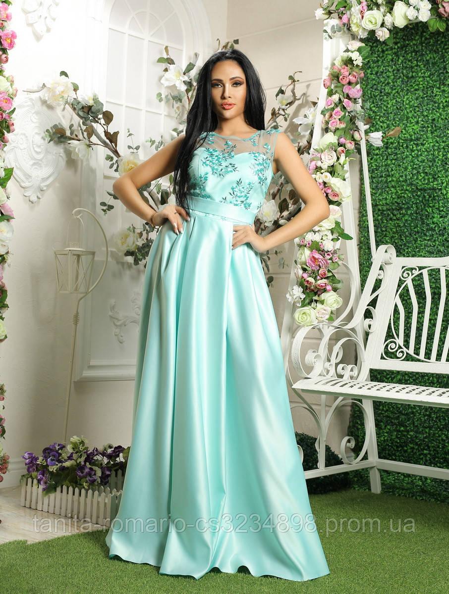 Вечернее платье 8036e Бирюза S M L