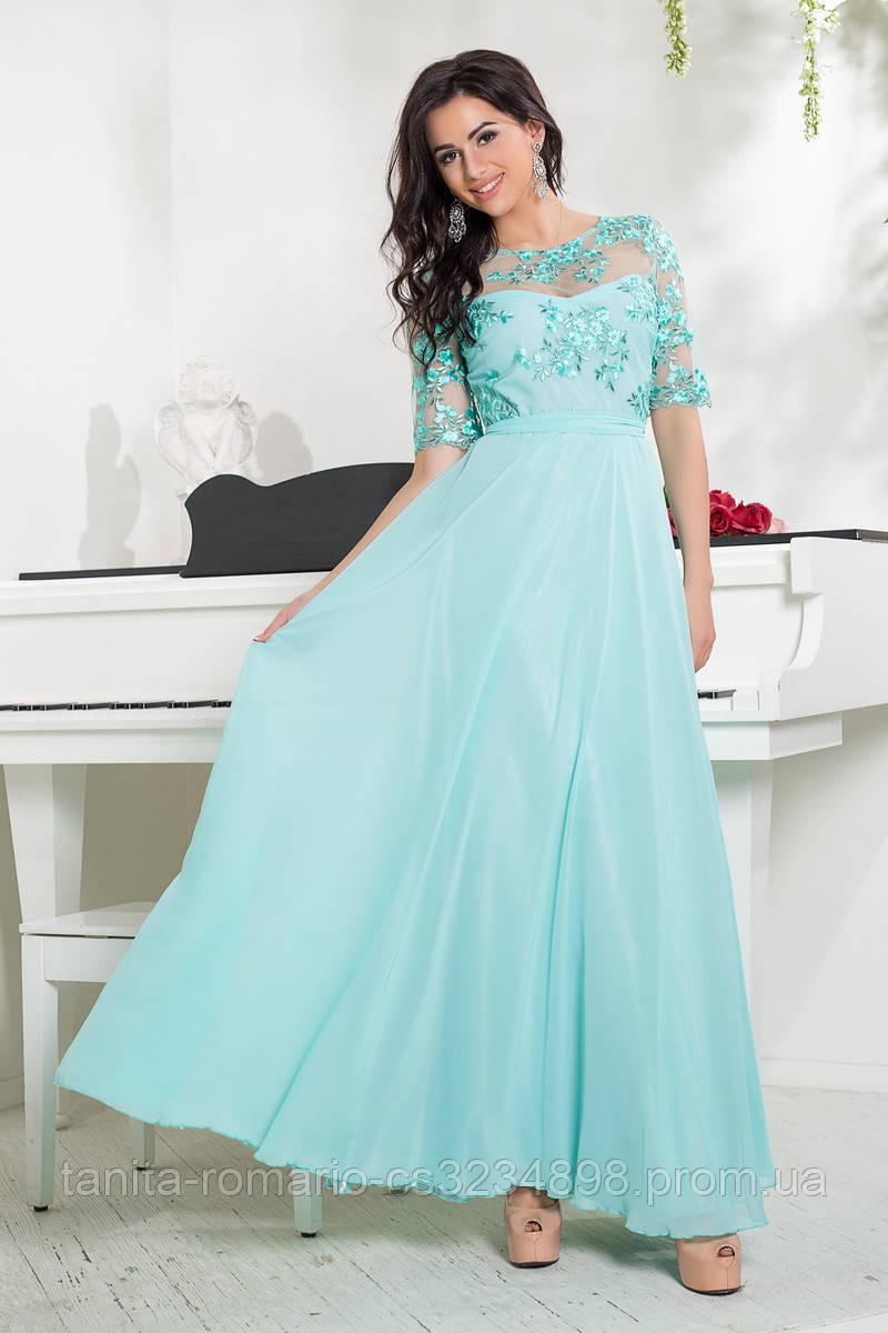 Вечернее платье 8035e Мятный S M L