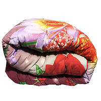 Одеяло Главтекстиль шерстяное 145/210 цветы