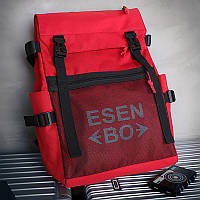 Городской женский спортивный рюкзак (для учебы, работы, тренировок) ESEN BO, красный