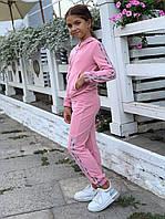 Детский спортивный костюм - двойка на девочку из двунитки на рост 122 - 140 см