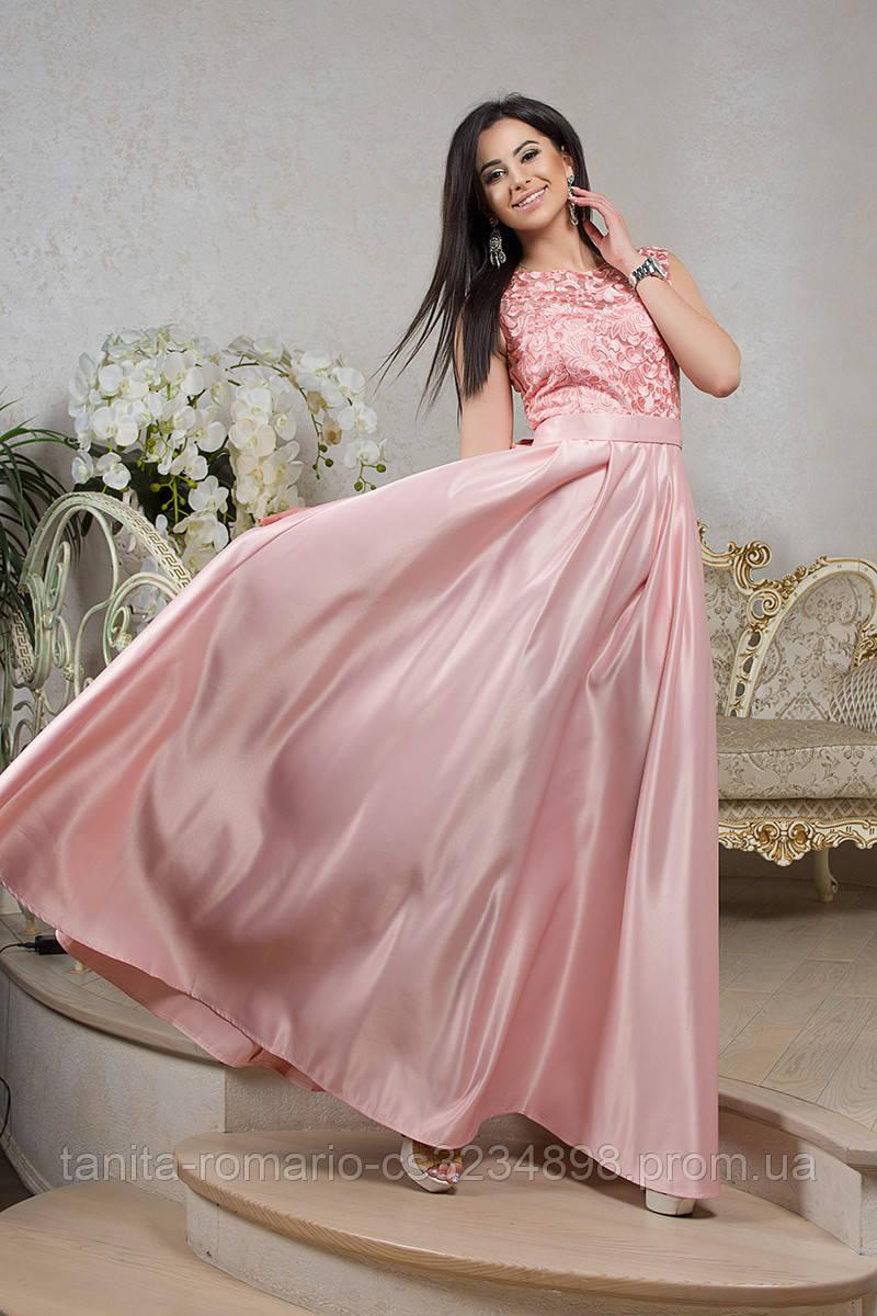 Вечернее платье 8034e Розовый S M L