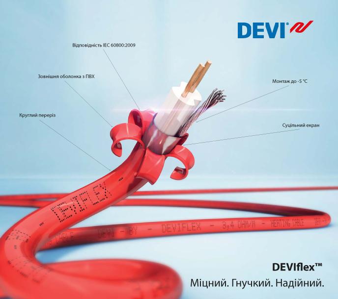 Нагревательный двужильный кабель DEVIflex 10T