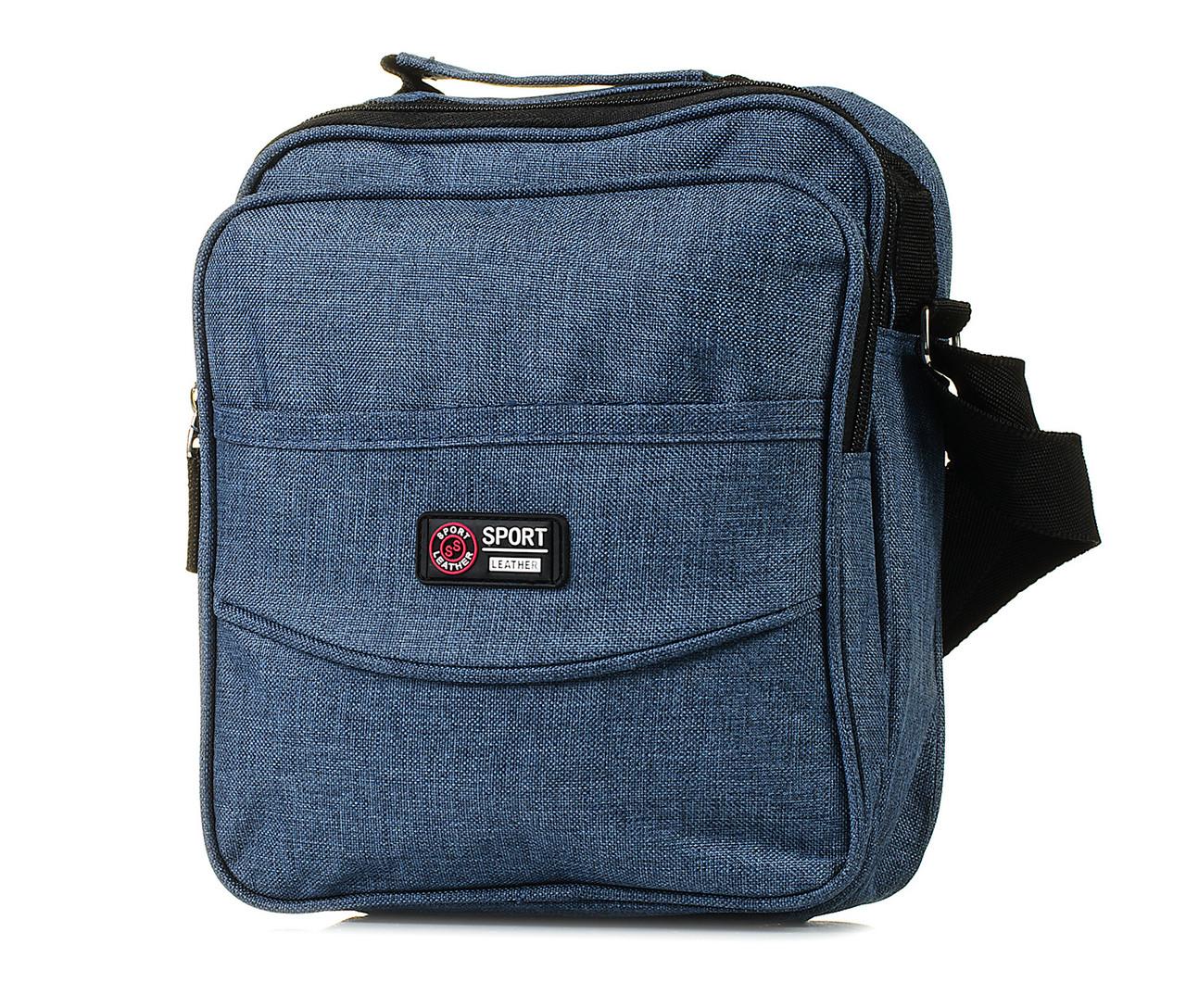 Мужская сумка через плечо синяя / чоловіча сумка через плече синя 1043334925