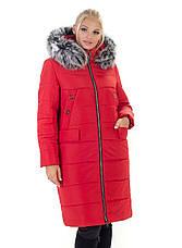 Женский зимний пуховик / куртка с мехом большихразмеров размер 44 46 48 50 52 54 56 58 60, фото 3