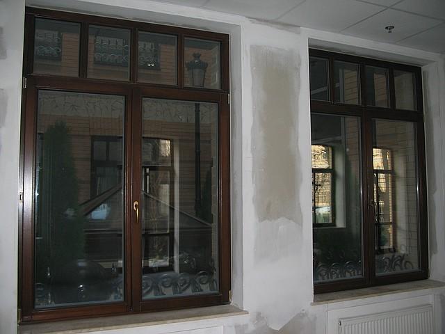 Деревянные окна со стеклопакетом (дуб)
