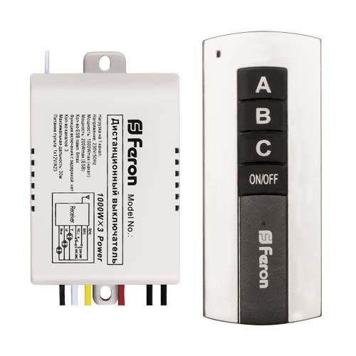 Дистанционный выключатель света Feron TM76 230В 3 канала