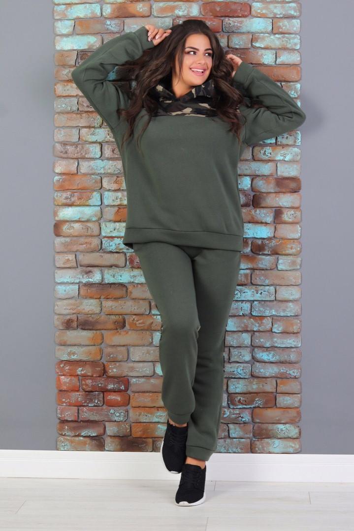 Женский теплый спортивный костюм  ВХ813 (бат)