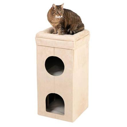 Складний комплекс для котів Travel з будиночком для кішки і когтеточку, фото 2
