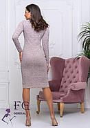 Женское теплое платье из ангоры Gabriella / размер 42-44, 46-48 / цвет пудра, фото 2