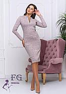 Женское теплое платье из ангоры Gabriella / размер 42-44, 46-48 / цвет пудра, фото 3