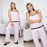 """Домашний женский комплект-пижама """"Lias"""" с кружевом (большие размеры)"""