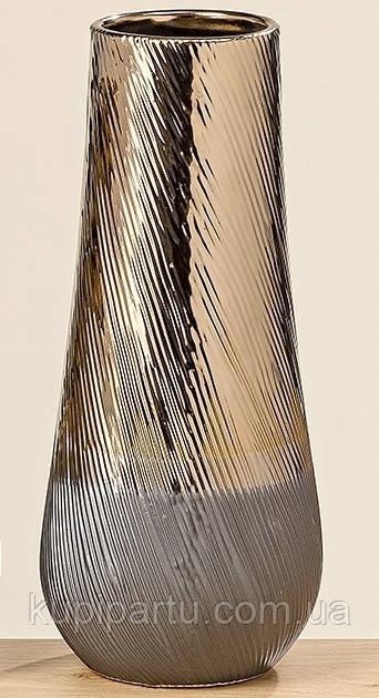 Ваза Килиан коричневая керамика h32 d14см 1009751