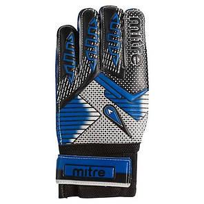 Воротарські рукавички Latex Foam MITRE, розмір 6, синій GG-MT6, фото 2