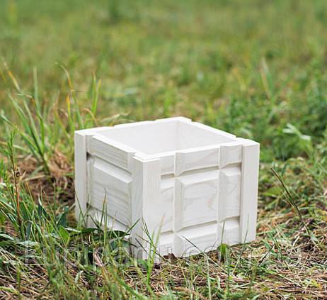 Кашпо вазон резьба белый D9035