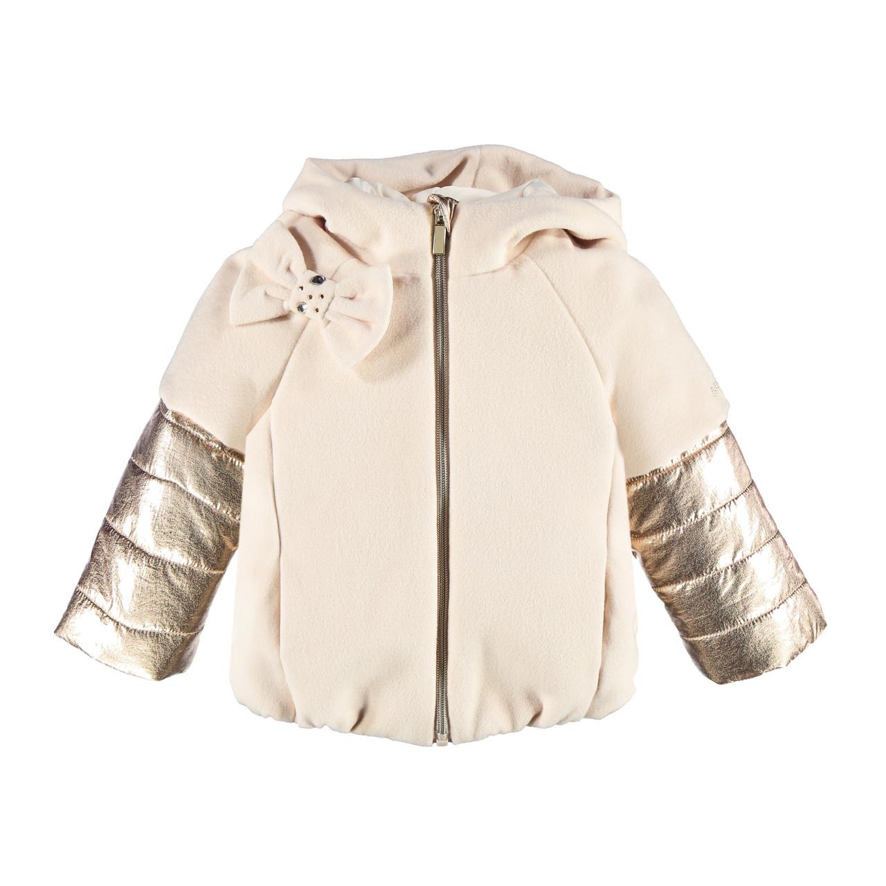 Пальто из ткани с капюшоном Mek  (р. 104-110)  193MEAA002-307 бежевое